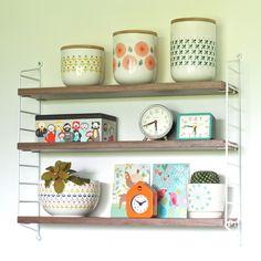 Vintage Shelf, Drupal, Cozy House, Kitchen Interior, Floating Shelves, Decoration, String Pocket, Sweet Home, Retro
