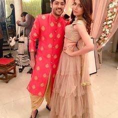 Image may contain: 2 people Tashan E Ishq, Punjabi Girls, Cute Couples Photos, Indian Designer Outfits, Tv Actors, Sweet Couple, Bridesmaid Dresses, Wedding Dresses, Designer Wear