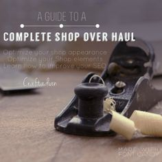 Shop Guide to a complete Shop Over Haul Shop Help by craftadian Woodworking Tips, Family Life, Improve Yourself, Etsy Seller, This Or That Questions, Faith, Etsy Shop, Shopping, Design
