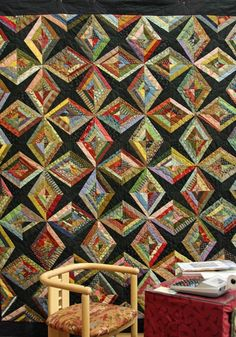 """Diamonds are Forever"" from the book, String Quilt Revival by Virginia Baker and Barbara Sanders"