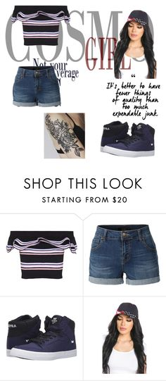 """Untitled #143"" by courtneybells ❤ liked on Polyvore featuring beauty, MSGM, LE3NO and Supra"