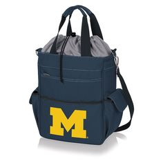 Picnic Time Michigan Wolverines Activo Cooler Tote, Blue