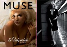 Kate Upton as Marilyn Monroe on the cover of Muse magazine