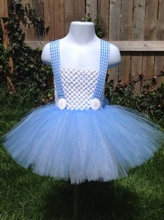 08f0c69e9584d Dorothy Inspired Tutu Dress Size Medium by NeverlandDesignsShop, $50.00 Tutu  Costumes Kids, Kids Tutu