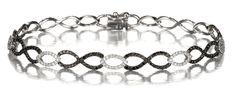 Black and White Diamond Infinity Bracelet