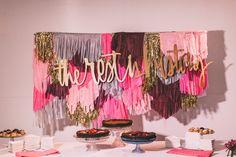 #signs, #dessert-table Photography: Steve Cowell - www.stevecowellphoto.com Read More: http://www.stylemepretty.com/2014/12/30/modern-chic-san-francisco-wedding/