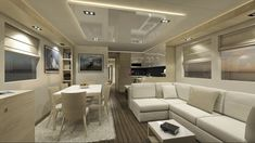You have never seen a houseboat like this! Starting at and going up to they look like a hybrid boat/trailer. The pricing we have seen this OverBlue yacht will run you but looking at the range and comfort Might be a nice alternative to a big Sea Ray! Boat Insurance, Boat Trailer, Floating House, Yacht Design, Interior Design Companies, Boats For Sale, Jacuzzi, Luxury, Catamaran