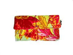 Orange floral Tobacco pouch a Vintage style print by Zarkadia, €25.00