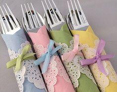 English Tea Party Silverware - Vintage Tea Party Cutlery, Tea Party Flatware, Easter Flatware, Baby Shower Silverware