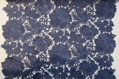 "Metallic Guipure Lace Navy- 24"" wide"