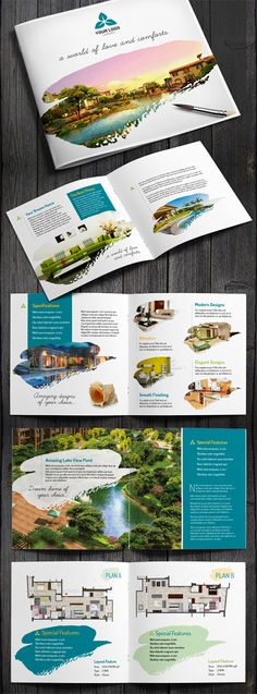 Design Brochure Real Estate 29 Super Ideas - 10 The Secret to Easily Saving Mone. Brochure Indesign, Template Brochure, Design Brochure, Booklet Design, Travel Brochure, Brochure Layout, Design Templates, Catalog Design Inspiration, Brochure Design Inspiration