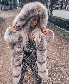 Faux Fur Hooded Coat, Fox Fur Coat, Parka Coat, Faux Fur Jacket, Winter Coats Women, Coats For Women, Fabulous Furs, Womens Parka, Fur Fashion