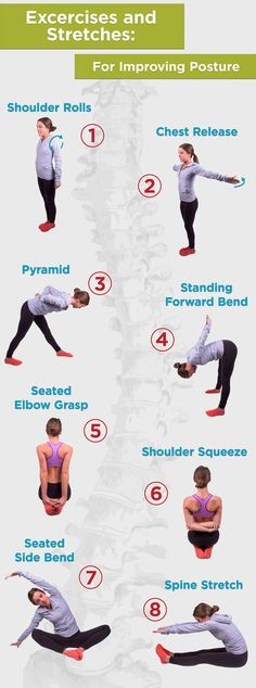 #Exercises and #Stretches for Improving #Posture ‍♀‍♀ #stretch #rehabilitation