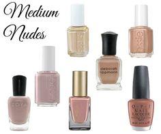 Nude nail polish for medium skin tones