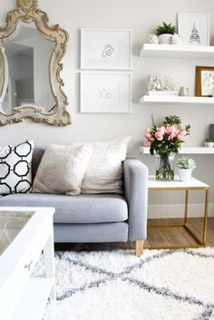 IKEA hack for gold side tables