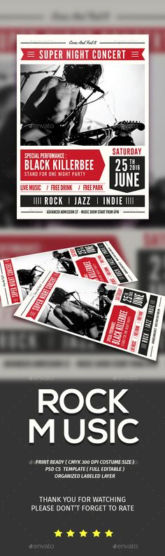 The Indie Band Flyer \/ Poster Indie, Band and Flyers - band flyer template