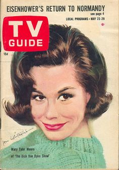 "May 23, 1964. Mary Tyler Moore of CBS's ""The Dick Van Dyke Show"" (illus. by Jon Whitcomb)."