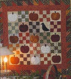 Primitive Folk Art Quilt Pattern Crow in the by FiddlestixDesign Primitive Quilts, Primitive Folk Art, Primitive Crafts, Primitive Patterns, Primitive Fall, Primitive Christmas, Cute Quilts, Mini Quilts, Wool Applique