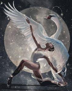 Sweet Drawings, Art Drawings Sketches, Cool Drawings, Aesthetic Drawing, Aesthetic Art, Swan Drawing, Ballet Painting, Dancing Drawings, Dance Art