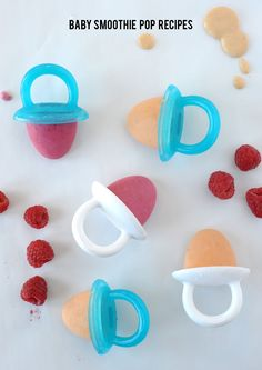 baby smoothie pop recipes with @munchkin fresh food freezer pop molds