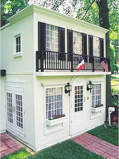 A New Orleans style Playhouse. It's a taste of NOLA in your backyard.