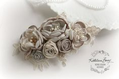 R720 Hairpiece bridal floral hair clip  by KathleenBarryJewelry