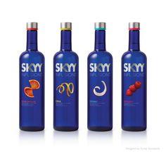 Skyy Vodka Packaging and Visual Identity. Designed by Turner Duckworth. Little Fish, Big Fish, Skyy Vodka, Toblerone, Visual Identity, Coca Cola, Packaging Design, Vodka Bottle, Alcoholic Drinks