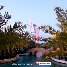 🚩Views of Burj Al Arab from Madinat Jumeiirah ! One of the top luxury tourist attraction in Dubai ! 👉 Video Coming soon on Dubai Video, Burj Al Arab, Dubai Travel, Top Destinations, Travel Activities, Attraction, Tourism, Luxury, Outdoor Decor