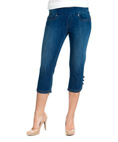 Look at this #zulilyfind! Medium Blue Wash Capri Jeans - Women & Plus by BLUBERRY DENIM #zulilyfinds
