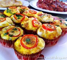 Spinach & Cheese Omelette Cups  #Healthilinguist