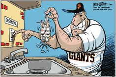 Disposing of the Cardinals and the Tigers. Drew Litton on GoComics.com #Baseball #WorldSeries #Sports #Humor