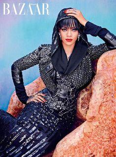 Rihanna on the Cover of Harper's Bazaar Arabia, July 2014