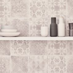 The name for these delicately pretty tiles comes from the enchanting seaside retreat of Istria, which is situated on the east coast of Croatia. Made from porcelain, they are so practical as they are beautiful. Toilet Tiles, Downstairs Toilet, Fired Earth, Front Rooms, Scandinavian Kitchen, Splashback, Kitchen Tiles, Porcelain Tile, Tile Floor