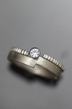 ethical his hers or theirs wedding band set modern lab diamond wide wedding band recycled and handmade one at a time in seattle