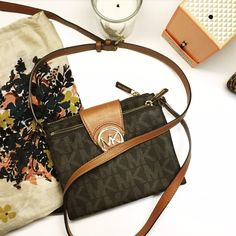 "Michael Kors Crossbody Purse NWOT Michael Kors Crossbody Purse. As always price is negotiable. Bundle two (2) or more items for an additional 25% off!.   Saffiano Leather -Adjustable Shoulder Strap -Exterior Slit Pocket, Interior Zip Pocket, Two Interior Pouch Pockets -7.5 x 7 x 1"" -Magnetic Fastening Michael Kors Bags Crossbody Bags"