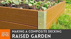 Like many of you, I wanted to try my hand at home gardening and I started by making a raised garden beds from composite decking. These garden beds should last a really long time and they were super easy to build. Making Raised Garden Beds, Raised Beds, Garden Soil, Garden Boxes, Garden Tips, Garden Art, Garden Ideas, Decking Material, Container Gardening Vegetables