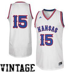 ecadd2f4381  15 Kansas Jayhawks adidas (Danny Manning) Twill Vintage 1980s Basketball  Mens Jersey Kansas