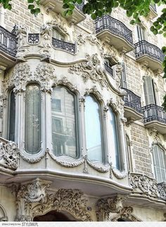 Ideas For Apartment Facade Design Architecture Paris France Beautiful Architecture, Beautiful Buildings, Art And Architecture, Beautiful Places, Art Nouveau, Belle Villa, Paris Apartments, Parisian Apartment, Jolie Photo
