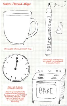 How to sharpie mugs.