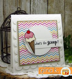 What's the Scoop? by PaperCrafty - Cards and Paper Crafts at Splitcoaststampers Stamp Tv, Kids Cards, Cardmaking, Projects To Try, Paper Crafts, Making Cards, Crafty, Cool Stuff, Day