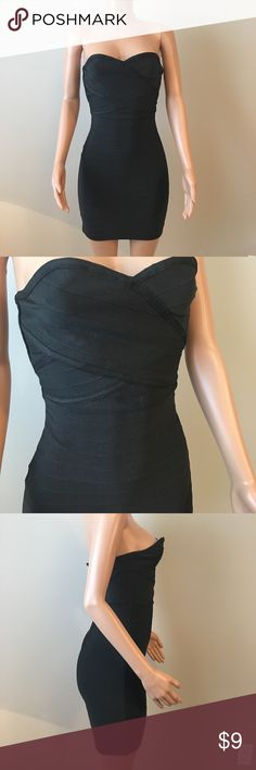 LBD bondage dress Black bodycon dress. No cups. Zip up back, didn't want to zip it all the way up on mannequin, though it might have been able to, because I didn't want to stretch/ruin it. WOW couture Dresses