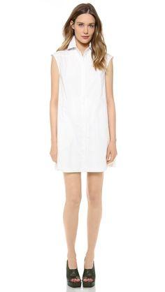 10 Crosby Derek Lam Shirt Dress with Pleated Skirt