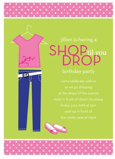 Shop 'til You Drop Party Invitation | Paper & Pearl