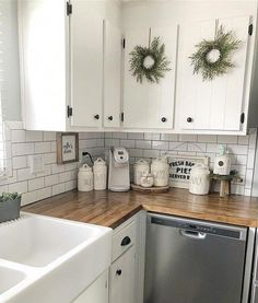 Customer kitchen with walnut butcher block counters! – Small Kitchen Home – epo countertop kitchen Updated Kitchen, New Kitchen, 10x10 Kitchen, Kitchen Ideas, Small Kitchen Redo, Kitchen Time, Kitchen Wood, Kitchen Pantry, Kitchen Dining
