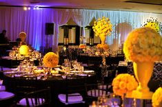 wedding recption yellow | and yellow wedding photos showcasing the best black and yellow wedding ...