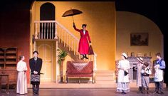"""Don't miss this musical production of the beloved """"Mary Poppins"""" by the Lake Superior Youth Theatre at Forest Roberts Theatre in Marquette Michigan Mary Poppins Cast, Mary Poppins Musical, Theatre Props, Theatre Stage, Theater, Set Design Theatre, Stage Design, Jane And Michael, Mysterious Events"""
