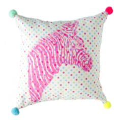 THE WELL APPOINTED HOUSE - Luxury Home Decor- Zebra Pom Pom Pillow
