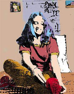 Moniquinha PixelPortraits, 2000 Trabalho de Graduação UFES. Revelação fotográfica.