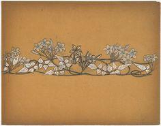 LALIQUE , René | Design drawing for a choker necklace (Collier de Chien)