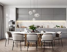 50 Affordable Kitchen Dining Room Design Ideas For Eating With Family - With space crunch becoming a common issue faced by people in setting up their houses, buying home furnishing products has become more challenging than. Modern Kitchen Design, Interior Design Kitchen, Modern Interior Design, Interior Livingroom, Design Interiors, Küchen Design, Layout Design, Home Design, Design Ideas